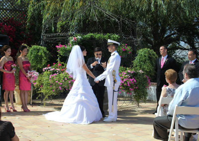 Best Shot Video Wedding on the patio at Paraiso Vineyards, Soledad, California