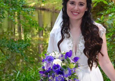Beautiful Bride Laurel at the Island Farm, San Gregorio, California