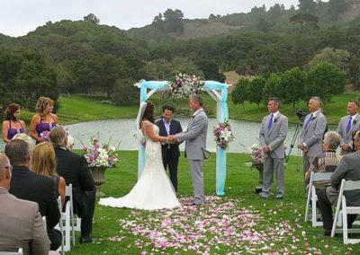 Wedding at Carmel Meadows, Carmel, California