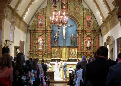 Wedding at Carmel Mission Basilica, Carmel, California